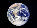 Whole Earth from Space, Viewed from Apollo 17, December 1972 Fotografisk tryk