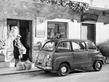 Fiat 600 Multipla Outside a Shop, (C1955-C1965) Photographic Print