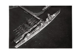 Aerial View of the German Light Cruiser 'Karlsruhe, from a Zeppelin, C1931 Giclee Print