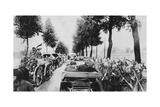 Busy Road, World War I, 1915 Giclee Print