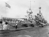 Us Navy Warships, Navy Yard, Balboa, Panama, 1931 Photographic Print