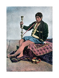 Persian Woman Smoking in Kalgan, C1890 Giclee Print