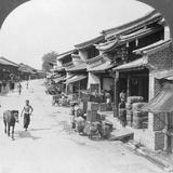Main Business Street of the Chinese Quarter, Bhamo, Burma, 1908 Photographic Print