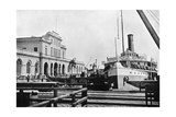 River Steamer at the Customs House, Asuncion, Paraguay, 1911 Giclee Print