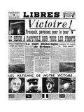 Victory!, Front Page of Libres Newspaper, 9 May 1945 Giclee Print
