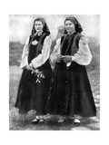 Latvian Women in Traditional Costume, 1936 Giclee Print