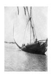 Boat Setting Sail on the River Tigris, Mesopotamia, 1918 Giclee Print