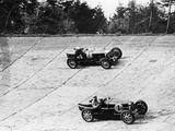 Maserati and Bugatti in Action at Brooklands, Surrey, 1933 Photographic Print