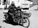 A Harley-Davidson with a Sidecar, 1923 Reprodukcja zdjęcia