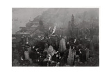 Aerial View of Manhattan, New York City, USA, from a Zeppelin, 1928 Giclee Print