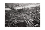 Aerial View of Cologne, North Rhine-Westphalia, Germany, from a Zeppelin, C1931 Giclee Print