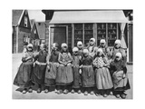 Children in National Costume, Marken, Netherlands, C1934 Giclee Print