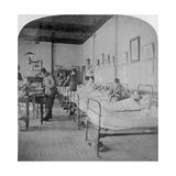 Ward in General Hospital No 10, Formerly Grey's College, Bloemfontein, South Africa, 1901 Giclee Print by  Underwood & Underwood