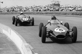 Graham Hill and Jack Brabham Racing in the XI British Grand Prix, Silverstone, July 1958 Photographic Print