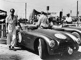 Peter Collins with an Aston Martin, Sebring, Florida, USA, 1950S Photographie