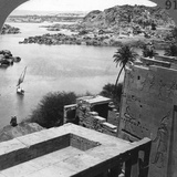 The Aswan Dam as Seen from the Philae Temple, Egypt, 1905 Photographic Print by  Underwood & Underwood