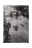 Aerial View of Tower Bridge, London, from a Zeppelin, 1931 Giclee Print