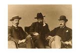 Konstantin Balmont, Sergei Poliakov and Modest Durnov, Russian Poets, 1904 Giclee Print