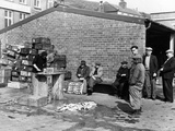 Gutting Fish Outside a Warehouse in Whitby, North Yorkshire, 1959 Photographic Print
