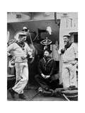 Three Petty Officers on Board the Cruiser HMS Theseus, 1896 Giclee Print by  Gregory & Co