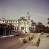 Two Racing Cars Taking a Bend, Monaco Grand Prix, Monte Carlo, 1959 Photographic Print