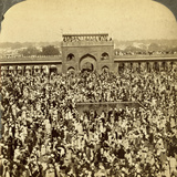 In the Court of the Jumma Mosque During the Annual Fast, Delhi, India Photographic Print by  Underwood & Underwood