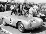 Stirling Moss with Porsche RSK, Goodwood, Sussex, 1955 Photographic Print