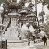 Stone Lanterns at Sumiyoshi, Osaka, Japan, 1904 Photographic Print by  Underwood & Underwood