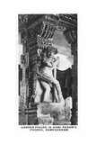 Carved Figure in Rami Peram's Pagoda, Ramesvaram, India, C1925 Giclee Print