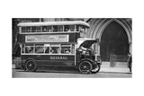 A Double-Decker Bus Standing Outside the Law Courts, London, 1926-1927 Giclee Print