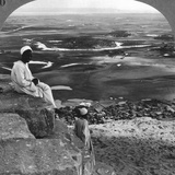 View from the Summit of the Great Pyramid, Giza, Egypt, 1905 Photographic Print