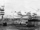 Seaplanes on Board a Us Navy Warship, Navy Yard, Balboa, Panama, 1931 Photographic Print