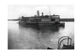 Red Cross River Boat Going Up the Tigris River, Mesopotamia, WWI, 1918 Giclee Print