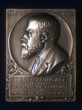 Plaquette Commemorating the Death of Henri Poincare, French Mathematician, 1912 Photographic Print