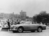 An Aston Martin DB2-4 MKII, with Windsor Castle in the Background, 1956 Photographic Print