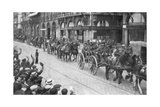 British Horse Drawn Artillery in Rouen, France, August 1914 Giclee Print
