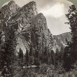 The Three Brothers, Yosemite Valley, California, USA, 1902 Photographic Print by  Underwood & Underwood