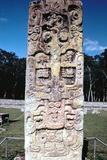 Stele B from Copan, Honduras, Pre-Columbian, Maya, C300-630 Photographic Print