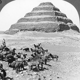 The Pyramid of Sakkarah, Egypt, 1905 Photographic Print by  Underwood & Underwood
