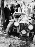 Crash of the Le Mans 24 Hours Winner at Spa, Belgium, 1938 Photographic Print