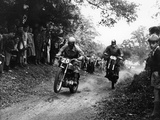 Action from the National (Ope) Shrubland Park Scramble, Suffolk, 1952 Fotografisk tryk