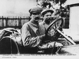 Felice Nazzaro Behind the Wheel of an Itala, French Grand Prix, Amiens, 1913 Photographic Print
