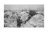 An Abandoned German Trench around Mesnil, Champagne, France, World War I, 1915 Giclee Print