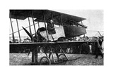 British Aeroplane with Quick-Fire Gun, First World War, 1914 Giclee Print