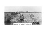 Sailing in Sydney Harbour, Australia, 1928 Giclee Print