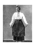 Estonian Woman in Traditional Dress, 1936 Giclee Print