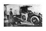 Volunteer English Woman Driver Washing Down Her Ambulance, Cambridge, World War I, 1915 Giclee Print