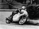 Bob Mcintyre on a Honda, Racing in the Isle of Man Junior Tt, 1961 Reproduction photographique