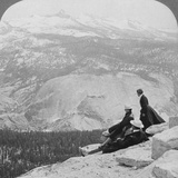 View from Clouds Rest over the Little Yosemite Valley to Mount Clark, California, USA, 1902 Photographic Print by  Underwood & Underwood