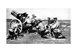 Russian Howitzer at Practice Fire, First World War, 1914 Giclee Print